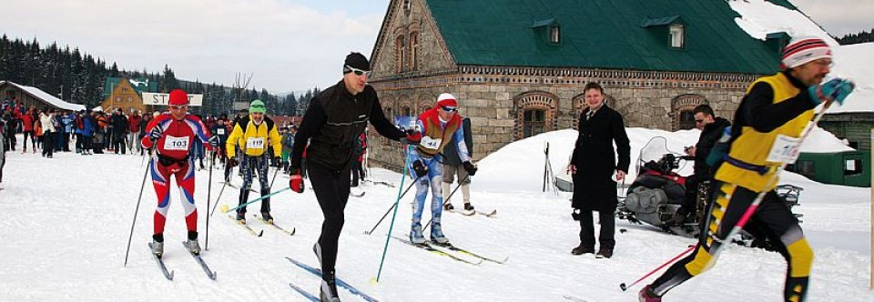 Cross country skiing in Jisera Mountains
